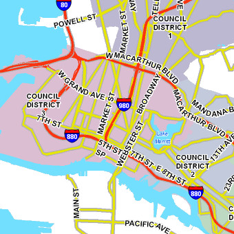 City of Oakland Maps City Of Oakland Map on